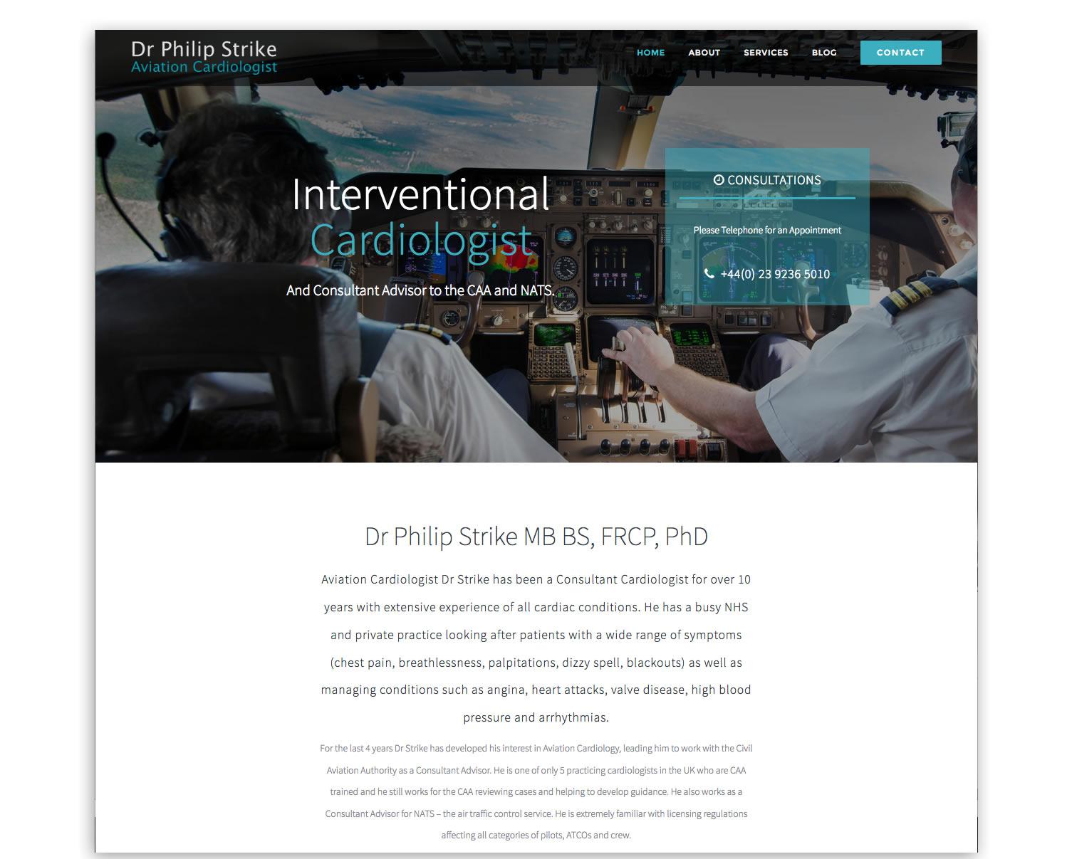 Interventional Cardiologist web development