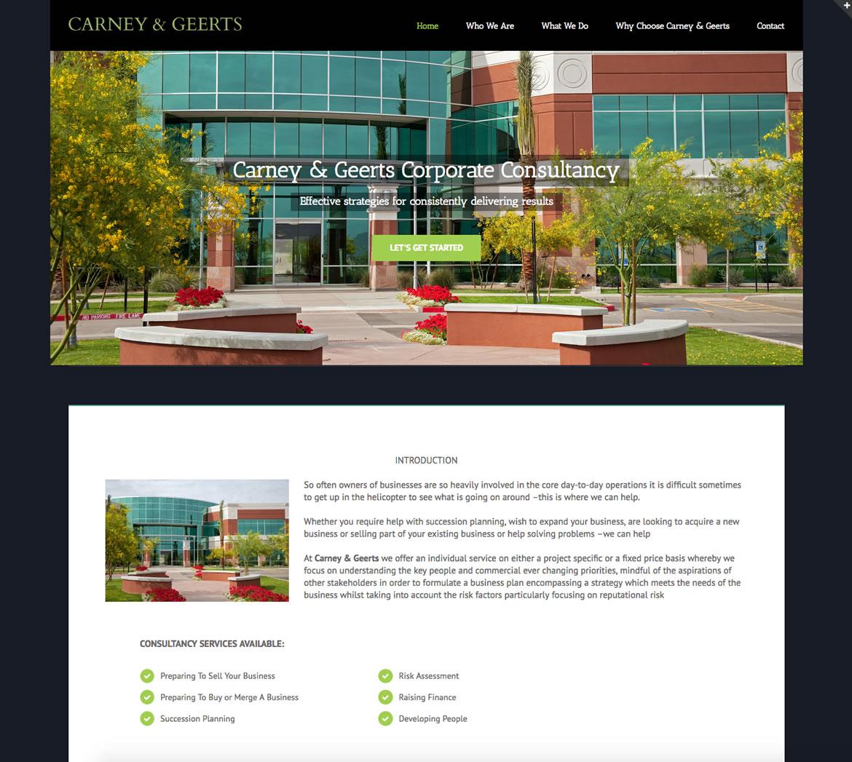 Carney & Geerts Corporate Consultancy Website Development Project