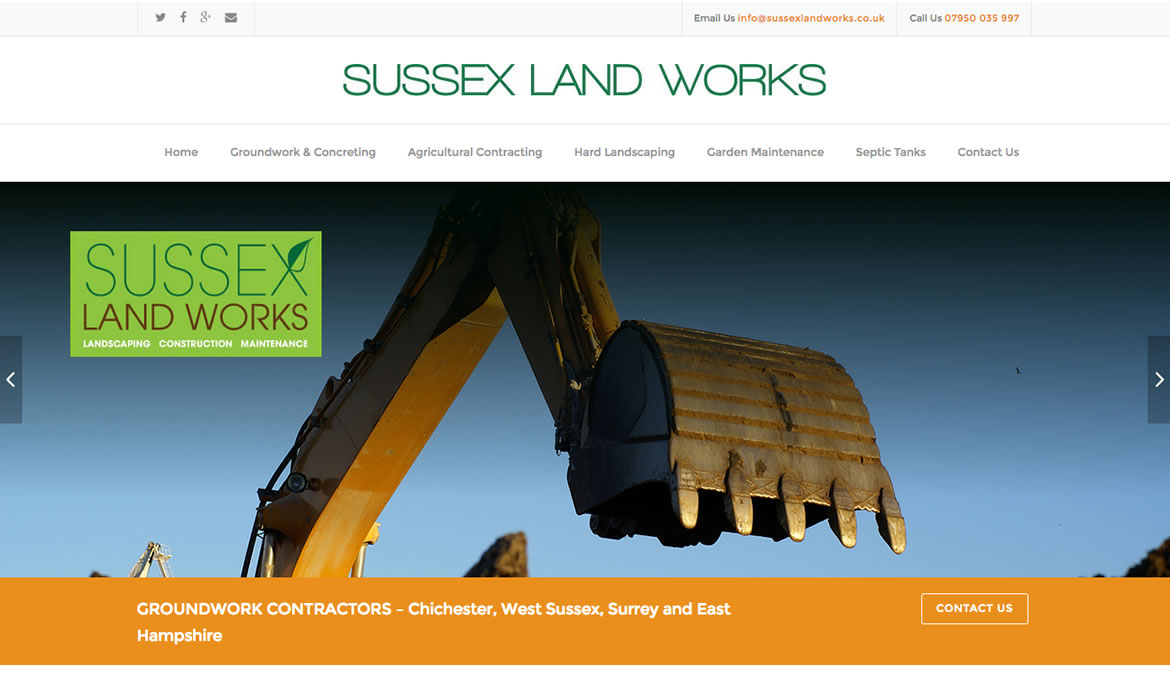 Sussex Landworks Project - Website Refresh by Red Leaf Chichester, West Sussex