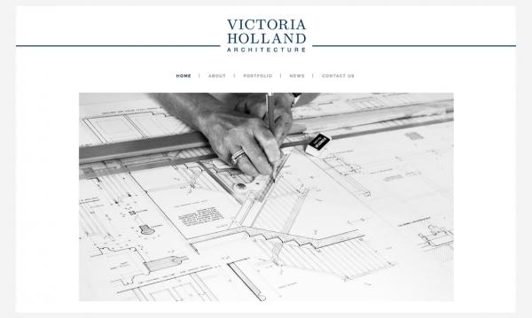 Victoria Holland Architects - WordPress development by Red Leaf, West Sussex
