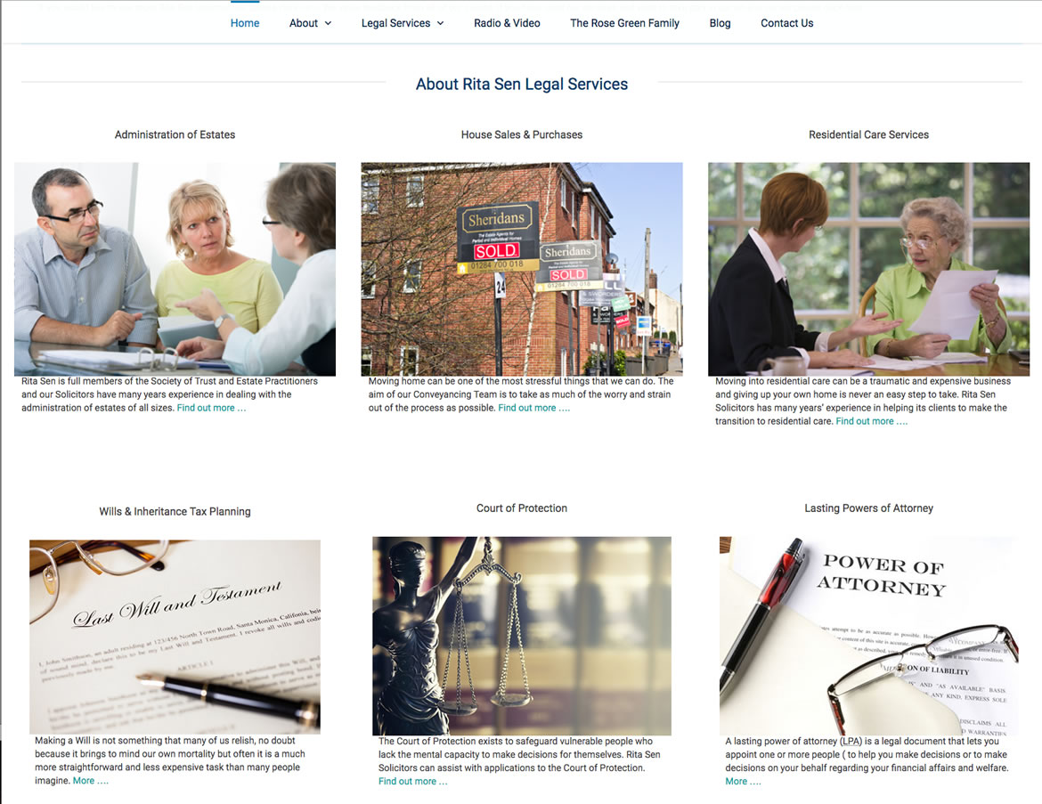 Red Leaf website development for Rita Sen Bognor Solicitors