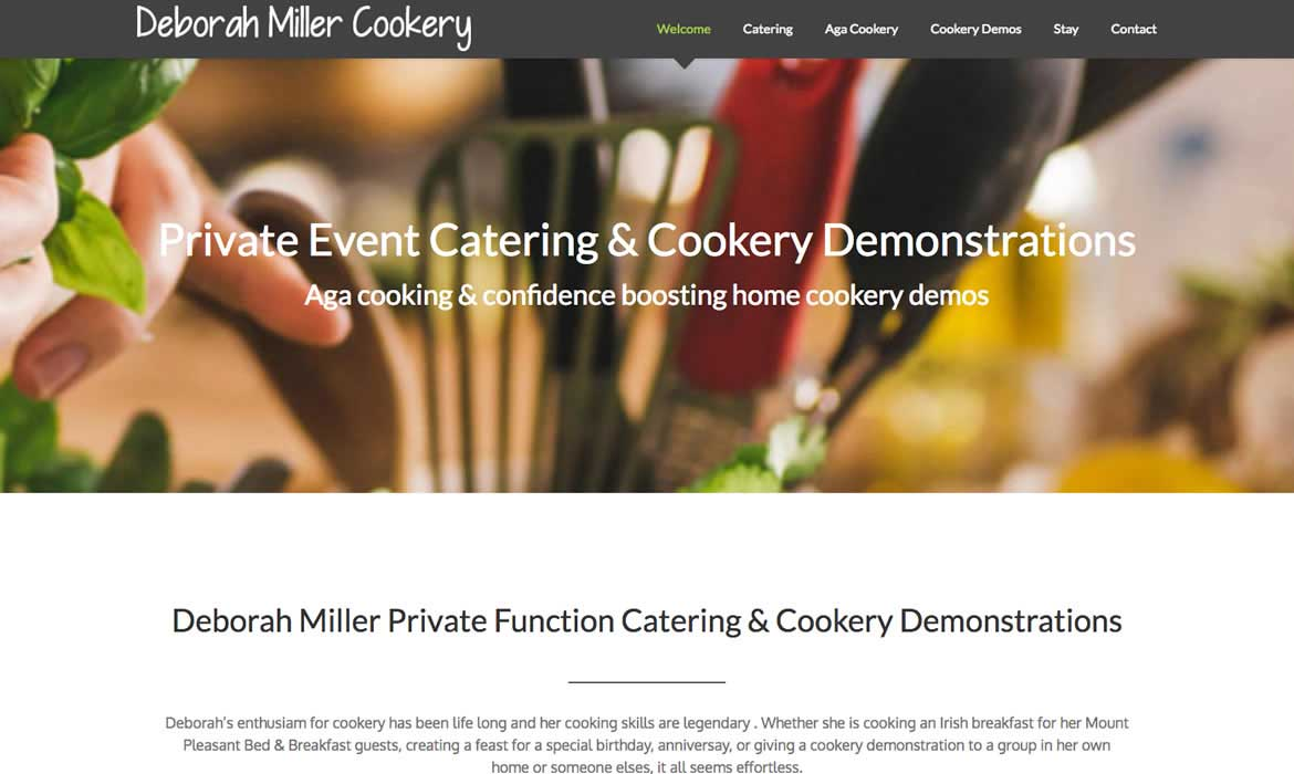 Red Leaf website Development Chichester - Catering & Cookery Demos website