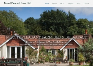 Bed & Breakfast website design by Red Leaf Chichester