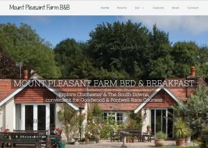 Bed & Breakfast website design by Red Leaf Chichester