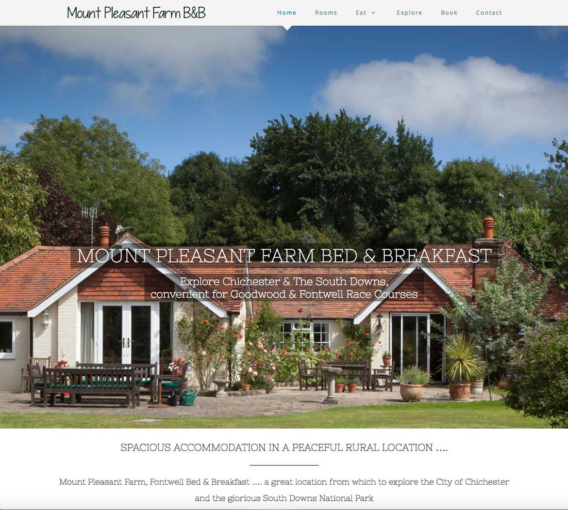 Bed & Breakfast website by Red Leaf Chichester