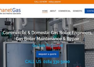 RedLeaf Design Website development chichester - project for Thanet Gas